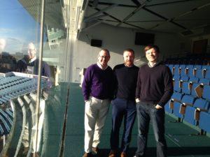 The Tougher Minds team at Headingley Carnegie Stadium.
