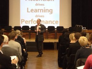 Professor Jim McKenna delivers a key message at the Developing resilient minds conference.