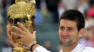 Reigning Wimbledon Champion Novak Djokovic.